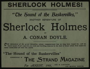 Broadsheet advertisement for The Hound of the Baskervilles, 1901. Wikimedia Commons.