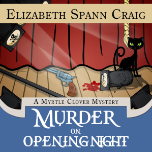 Murder on Opening Night by cozy mystery author Elizabeth Spann Craig