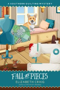 Fall to Pieces is a Southern Quilting cozy mystery by author Elizabeth Craig