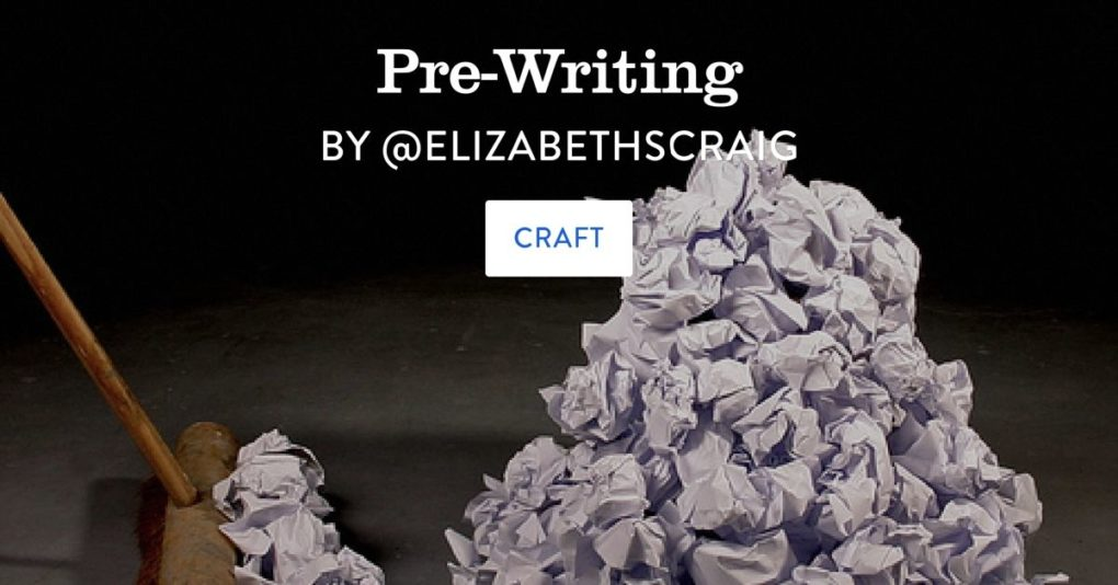 Are you immobilized by pre-writing? by Elizabeth Spann Craig