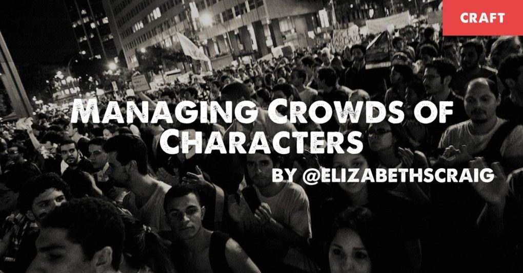Managing Crowds of Characters is a blog post by writer Elizabeth Spann Craig