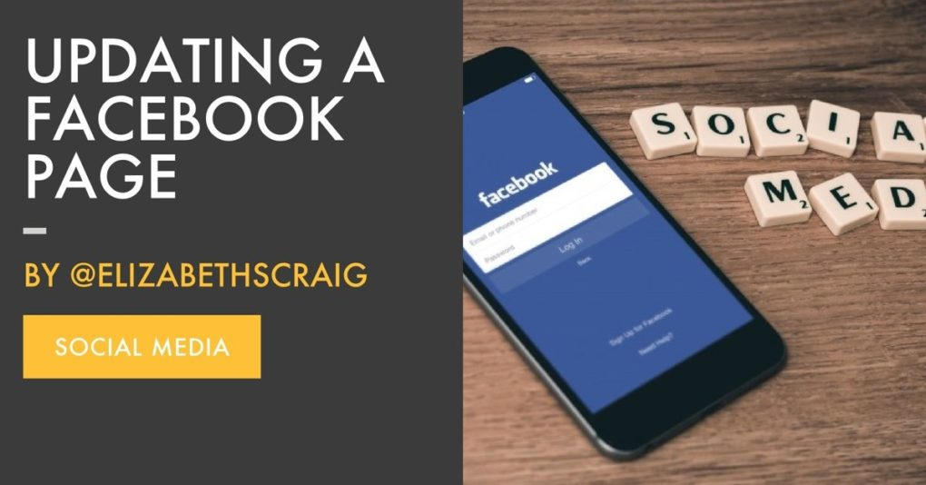 Updating a Facebook Page is a blog post from author Elizabeth Spann Craig.