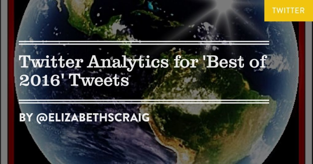 Twitter Analytics for 'Best of 2016' Tweets is a post by Elizabeth S. Craig