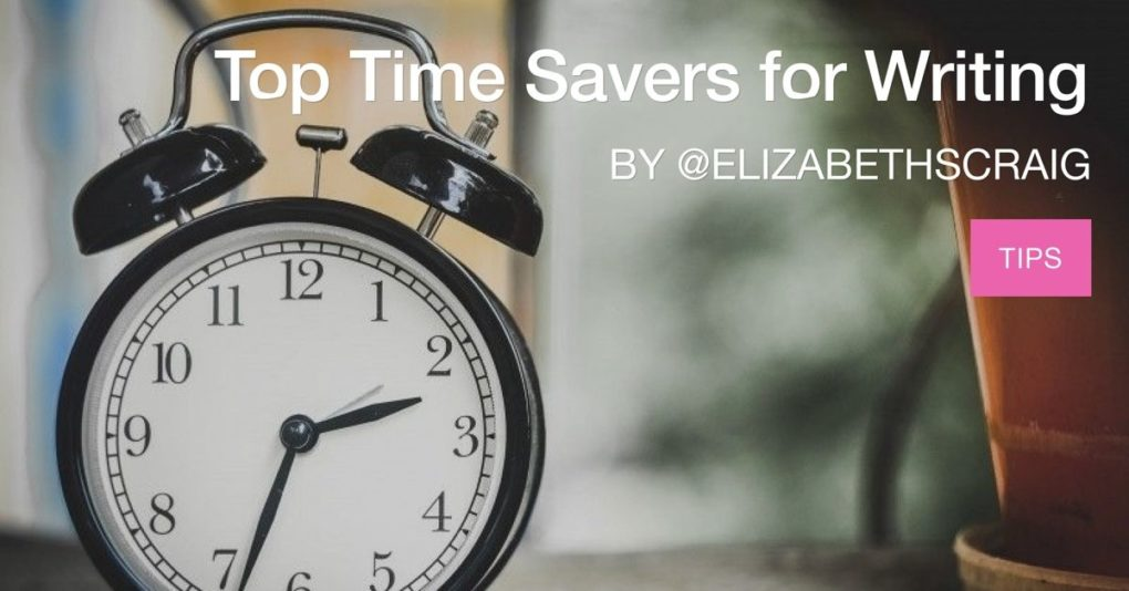 Alarm clock in foreground demonstrates that time savers are important to writers.