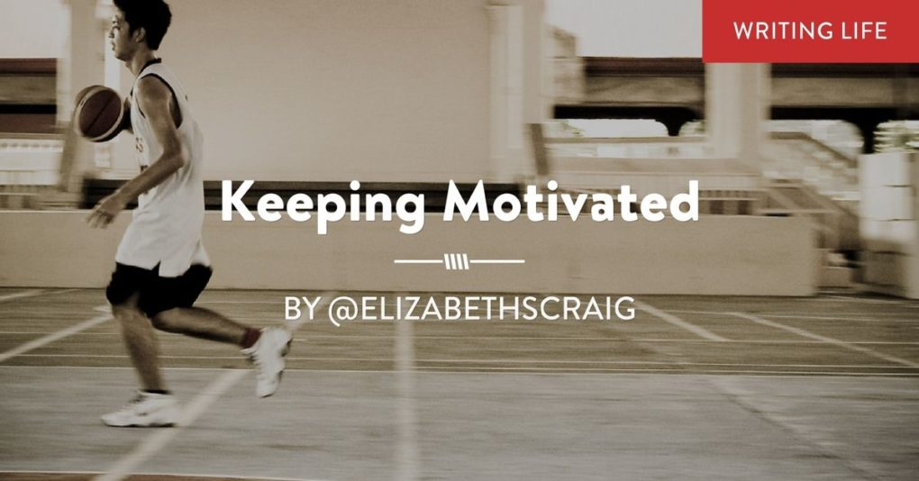 "A young man plays basketball and the post text is superimposed: ""Keeping Motivated."""