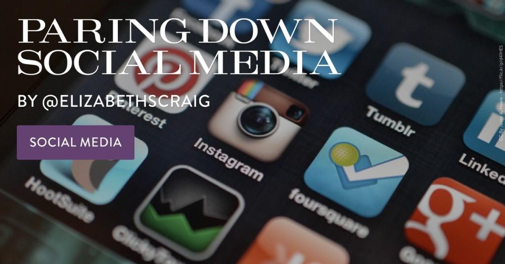 Paring Down Social Media by Elizabeth Spann Craig