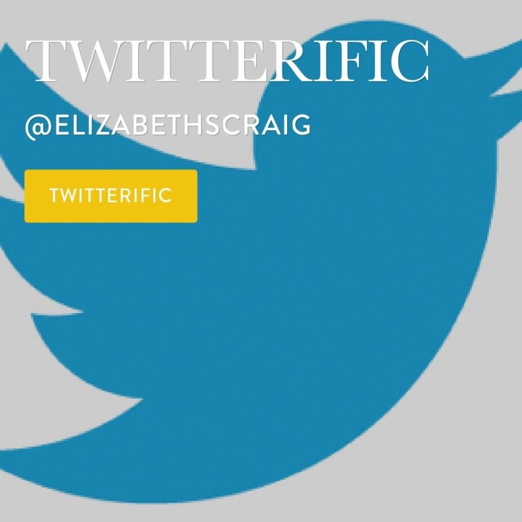 Twitterific Writing Links by @elizabethscraig Elizabeth Spann Craig