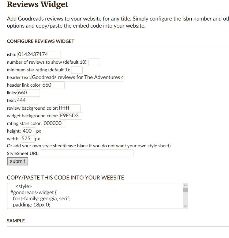 Goodreads Review Widgets – Elizabeth Spann Craig